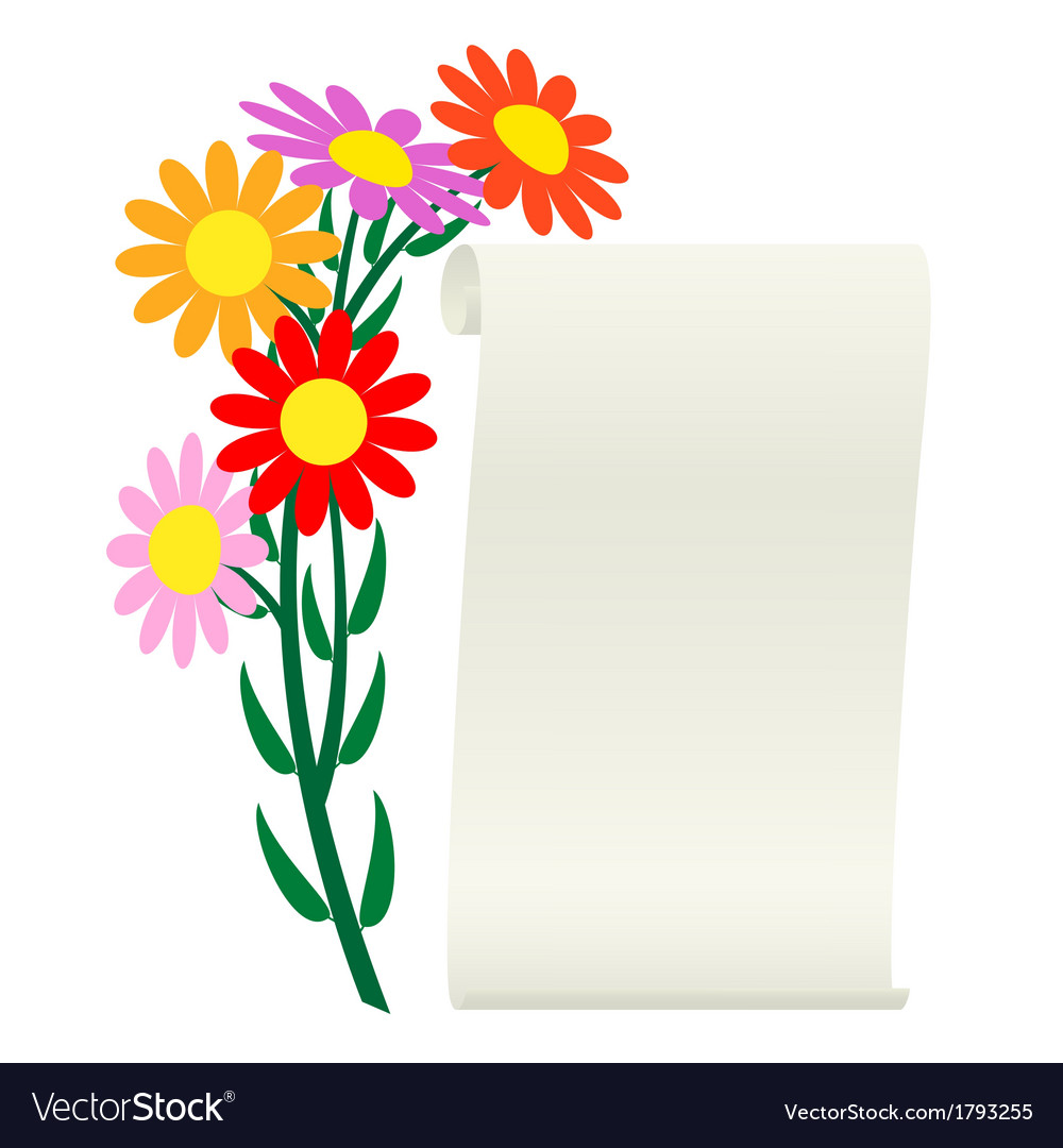 Flower and scroll vector | Price: 3 Credit (USD $3)