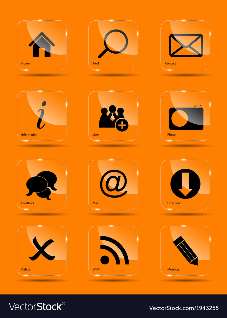 Icon set for web vector   Price: 1 Credit (USD $1)