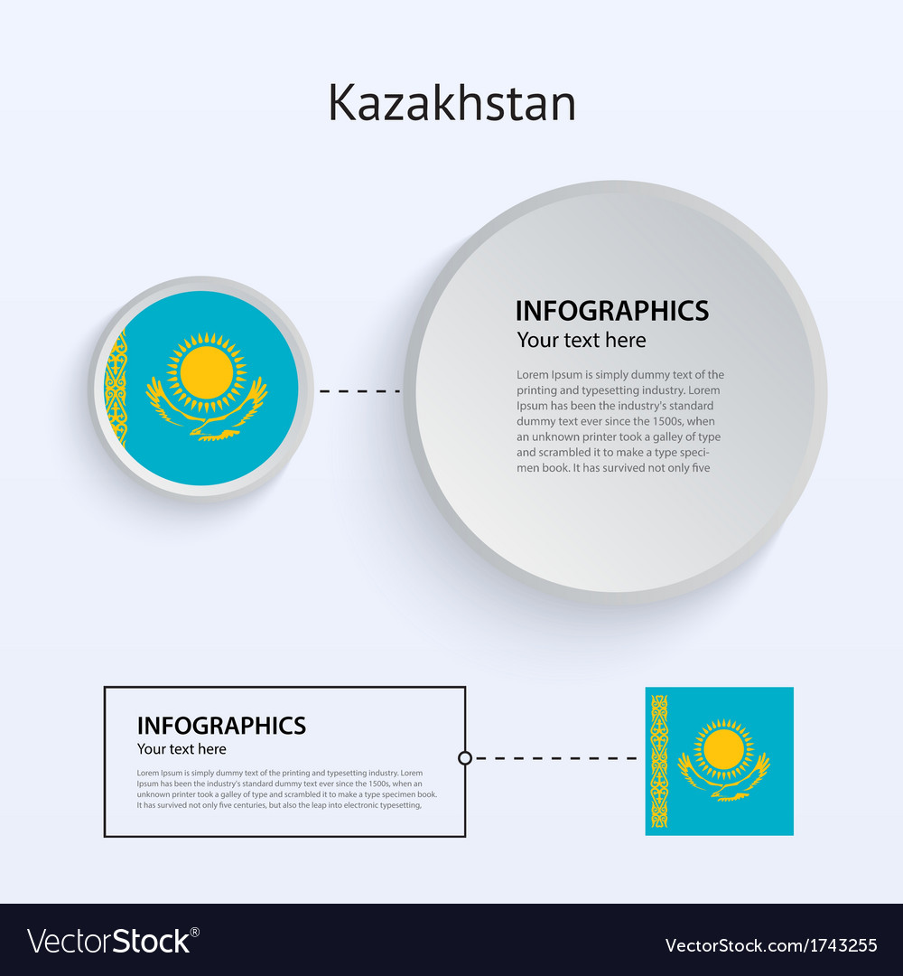Kazakhstan country set of banners vector | Price: 1 Credit (USD $1)