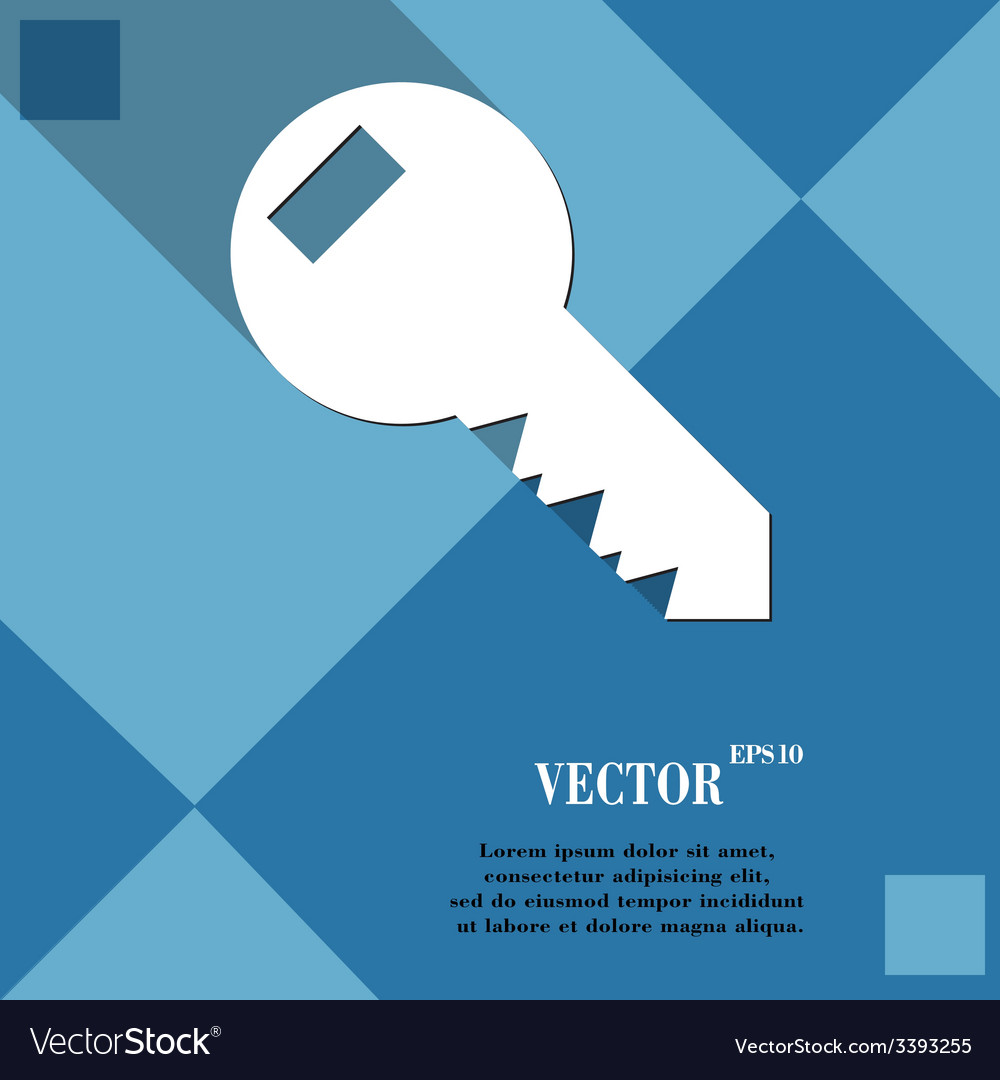 Key icon symbol flat modern web design with long vector   Price: 1 Credit (USD $1)