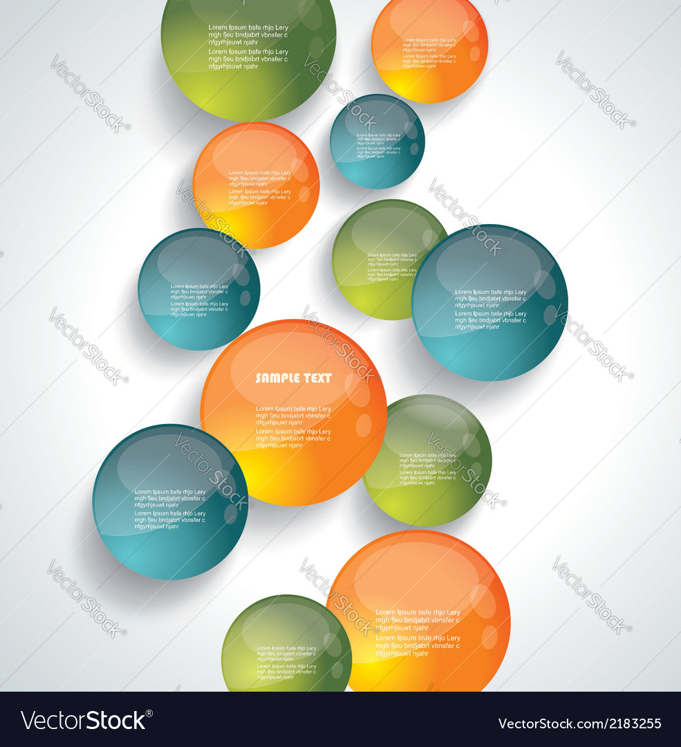 Modern circle background vector | Price: 1 Credit (USD $1)