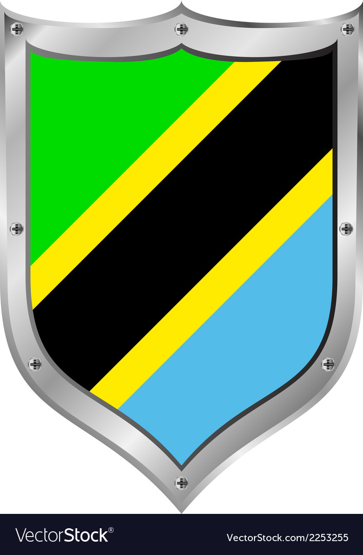 Tanzania flag button vector | Price: 1 Credit (USD $1)
