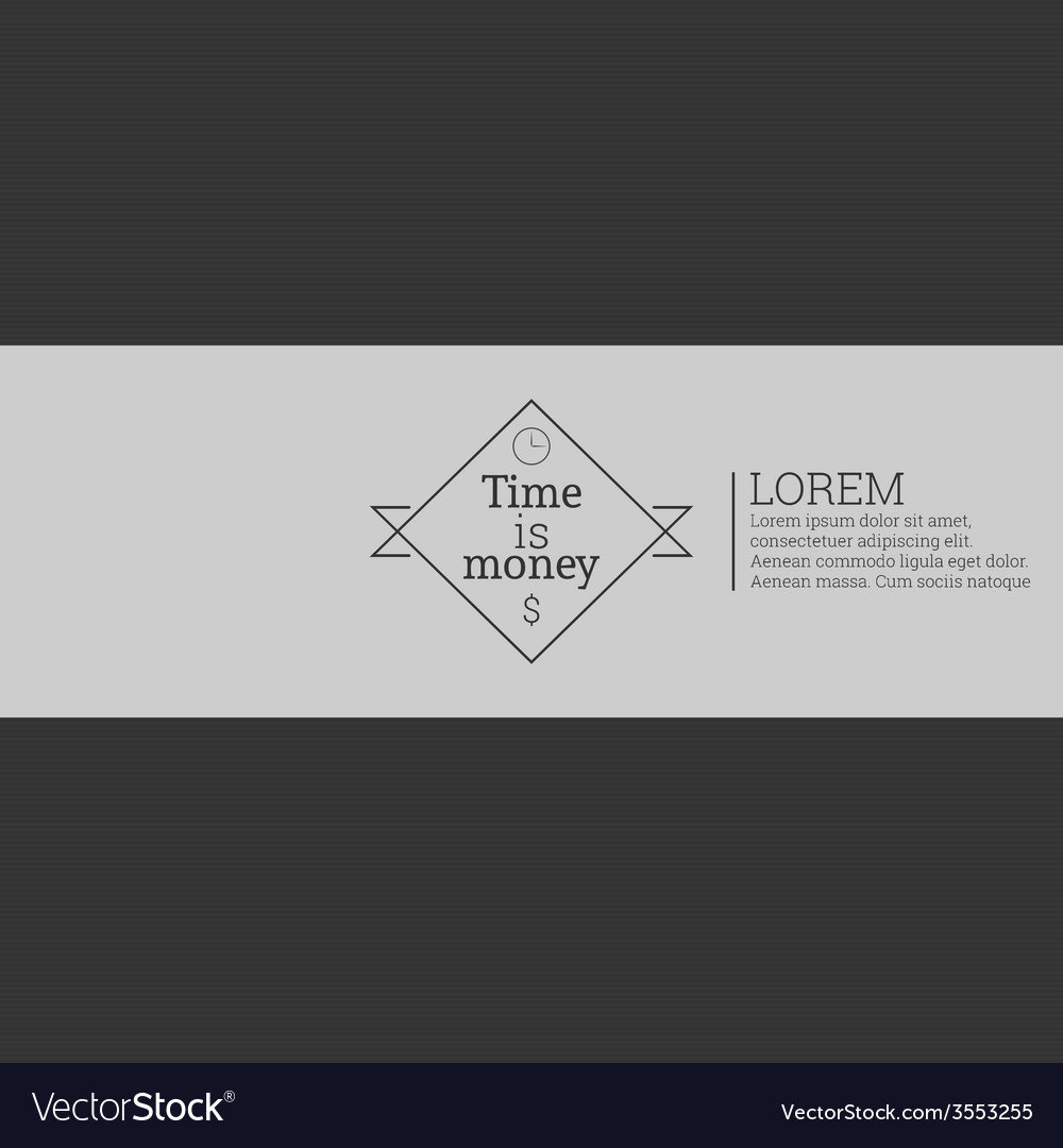 Time is money money concept vector | Price: 1 Credit (USD $1)