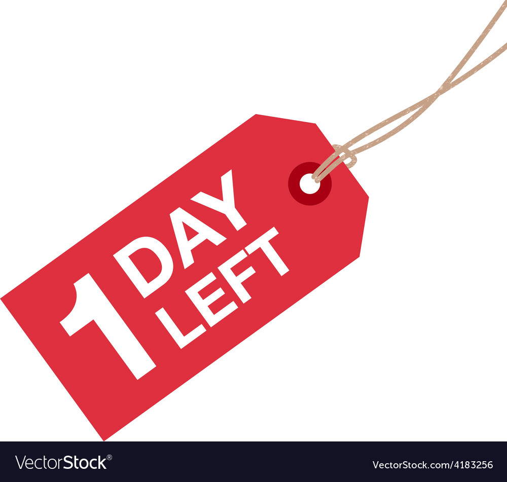 1 day left to go vector | Price: 1 Credit (USD $1)