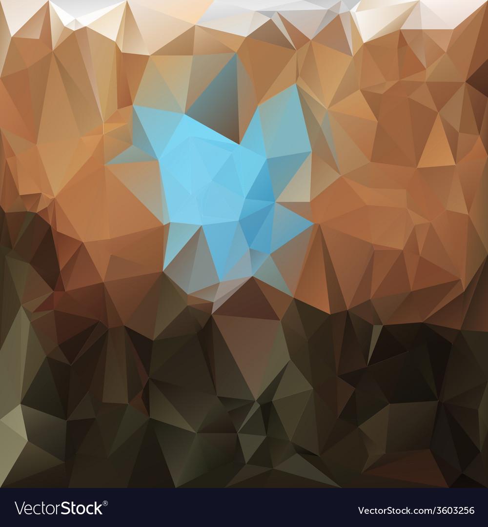 Brown blue polygonal triangular pattern background vector | Price: 1 Credit (USD $1)