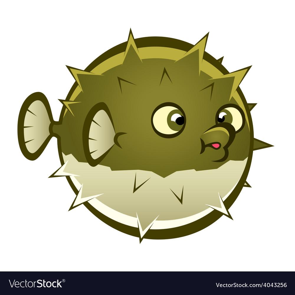 Cartoon puffer fish vector | Price: 3 Credit (USD $3)