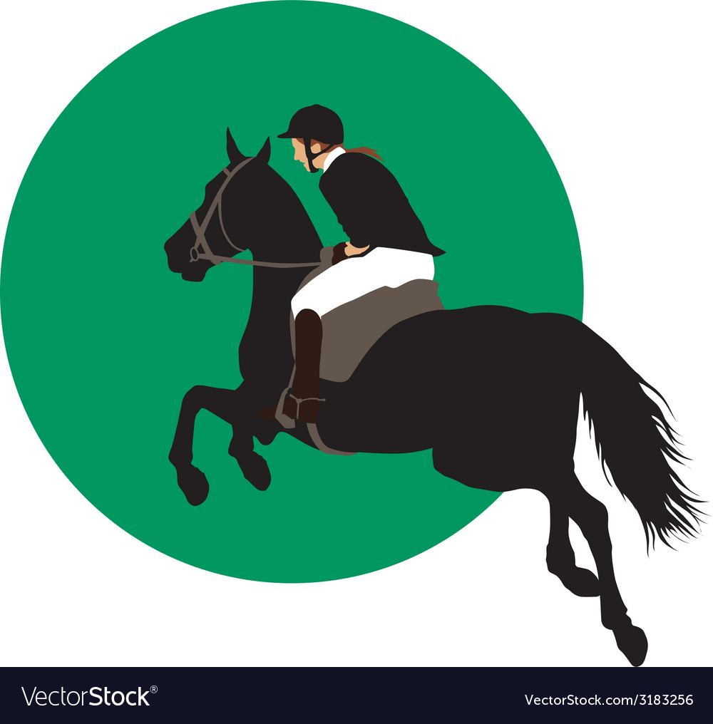 Equestrian sports design vector | Price: 1 Credit (USD $1)