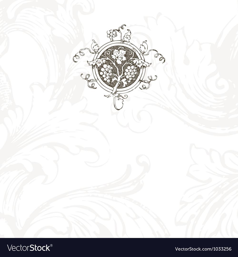 Floral vine menu template vector | Price: 1 Credit (USD $1)