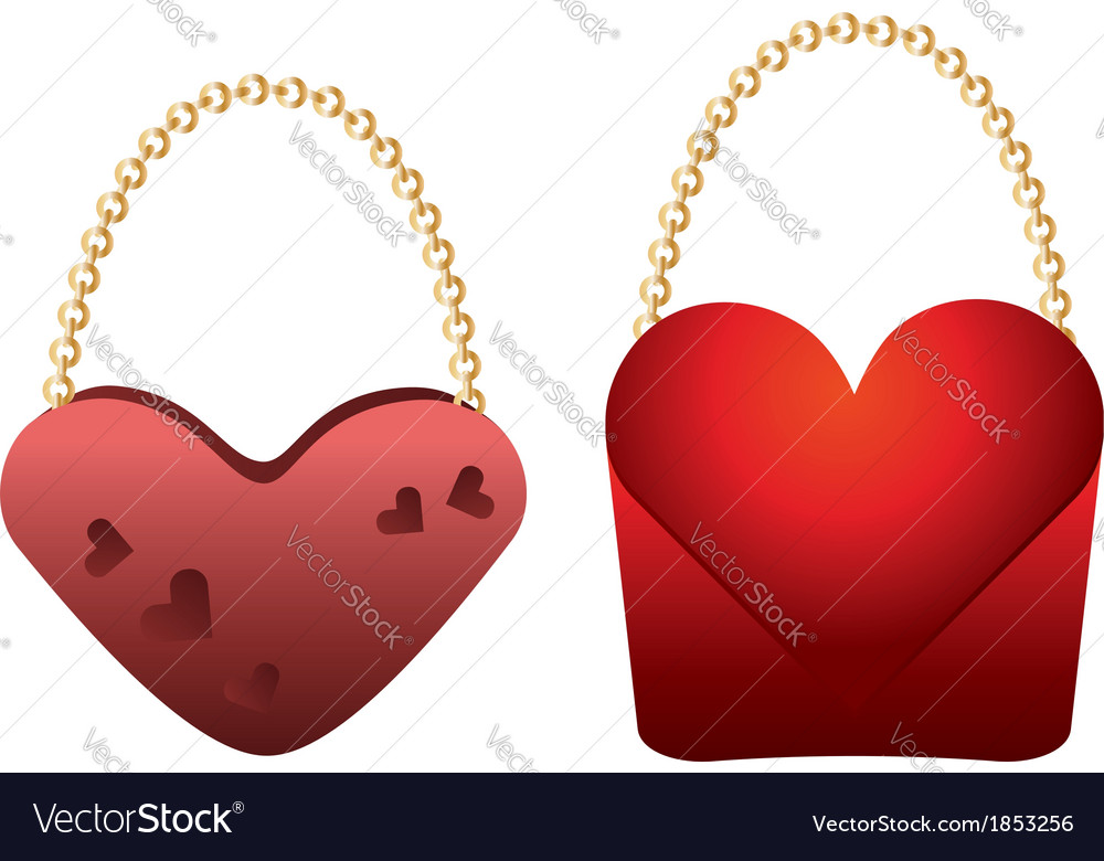 Heart shaped purses vector | Price: 1 Credit (USD $1)