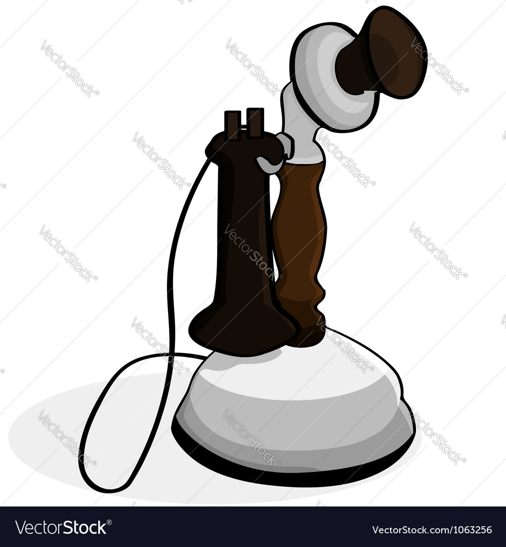 Old telephone vector | Price: 1 Credit (USD $1)