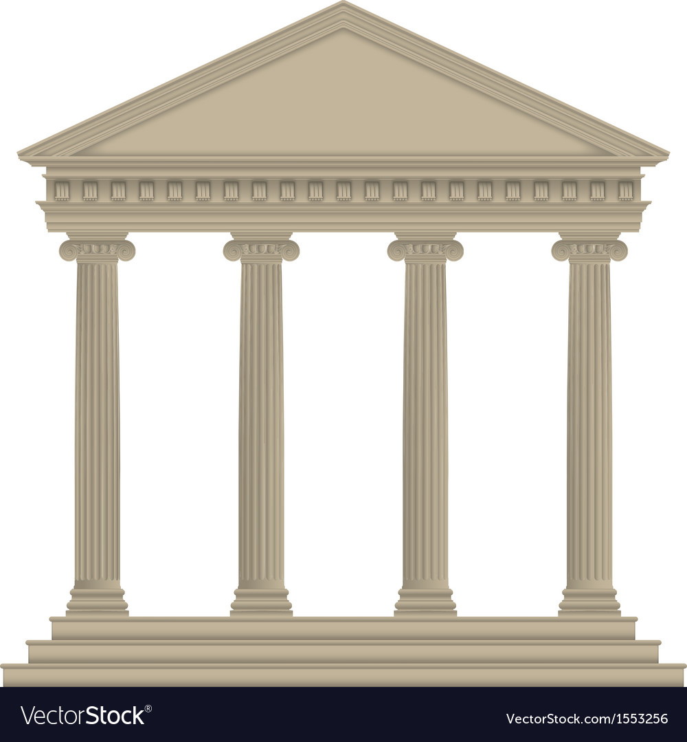 Romangreek temple vector | Price: 1 Credit (USD $1)