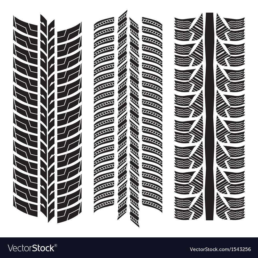 Various tyre treads vector | Price: 1 Credit (USD $1)