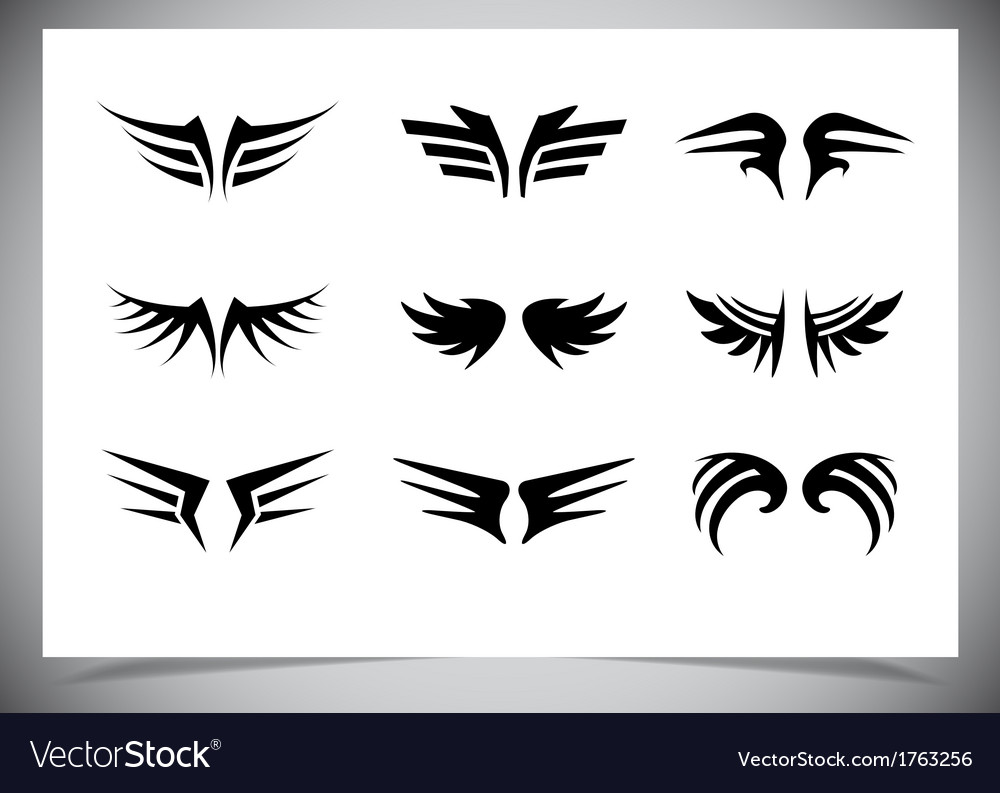 Wings collection set of wings vector | Price: 1 Credit (USD $1)