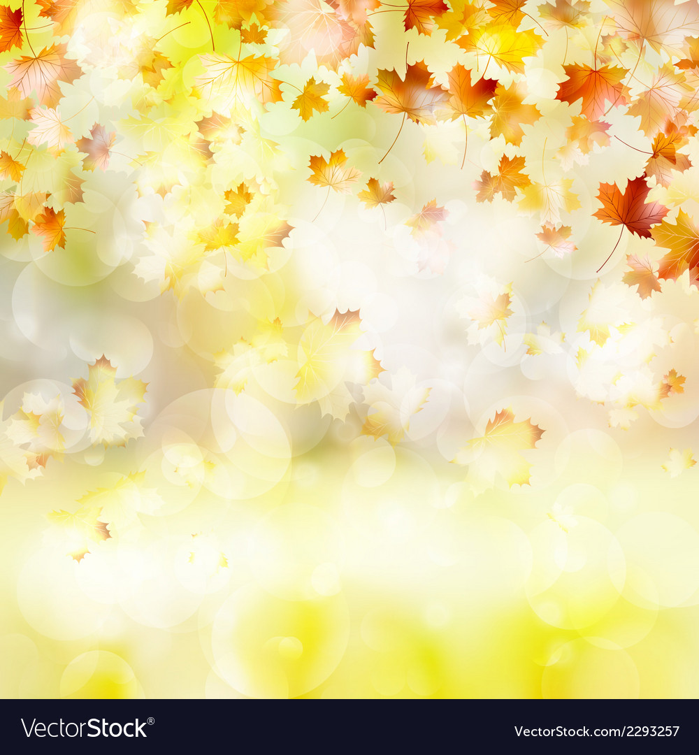 Autumn background with leaves eps 10 vector   Price: 1 Credit (USD $1)