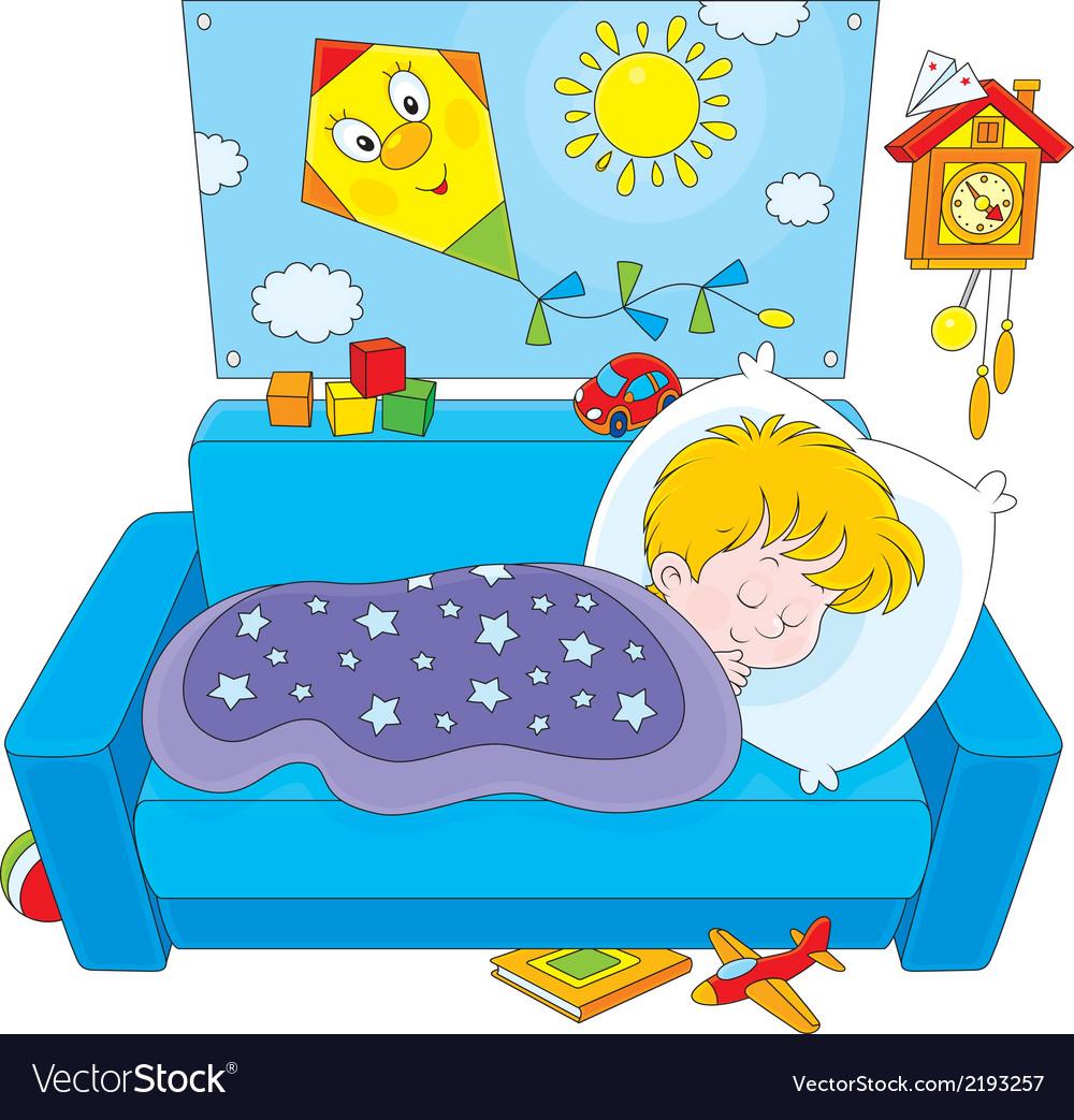 Child sleeping vector | Price: 1 Credit (USD $1)