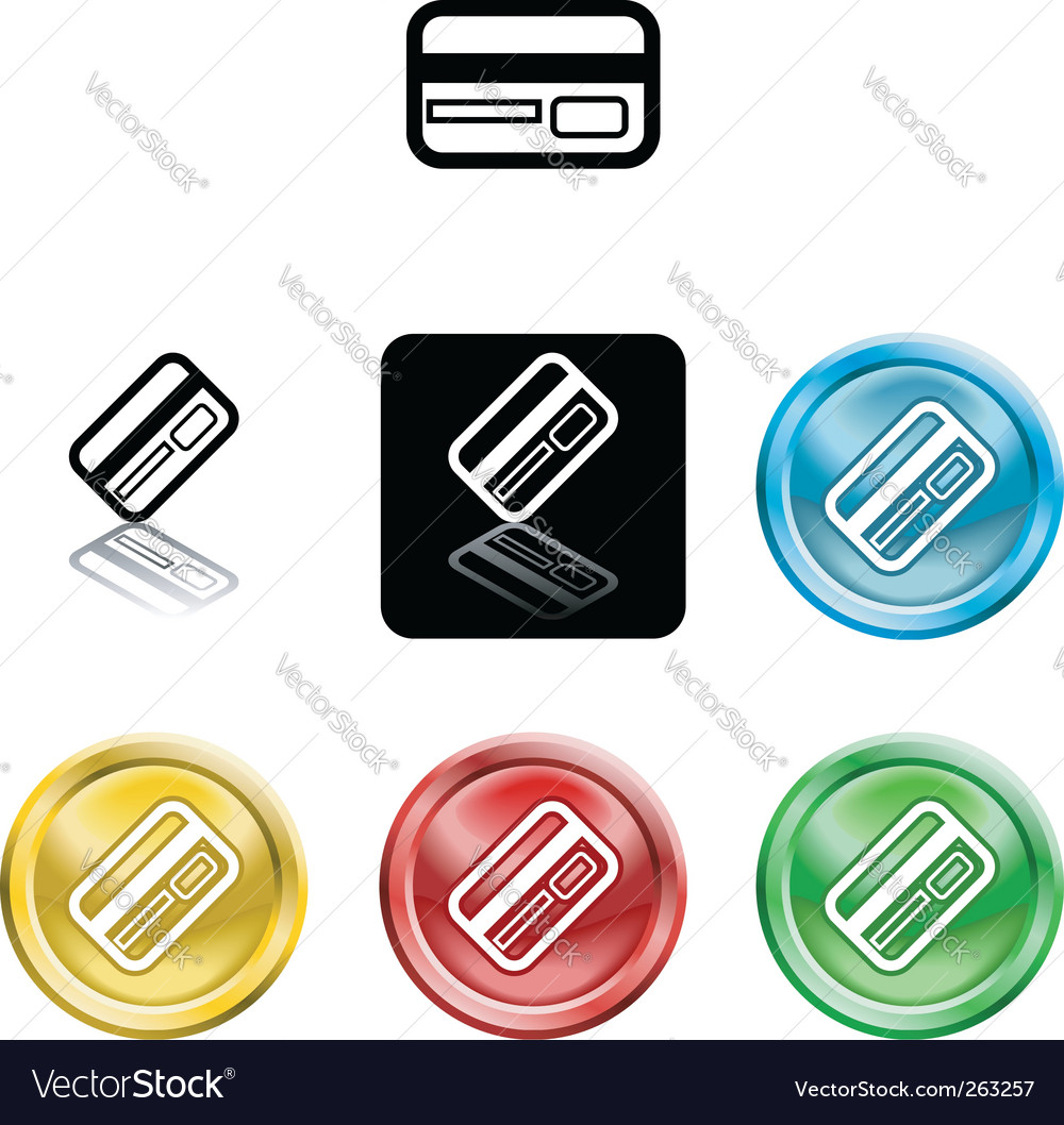 Credit card icon symbol vector | Price: 1 Credit (USD $1)