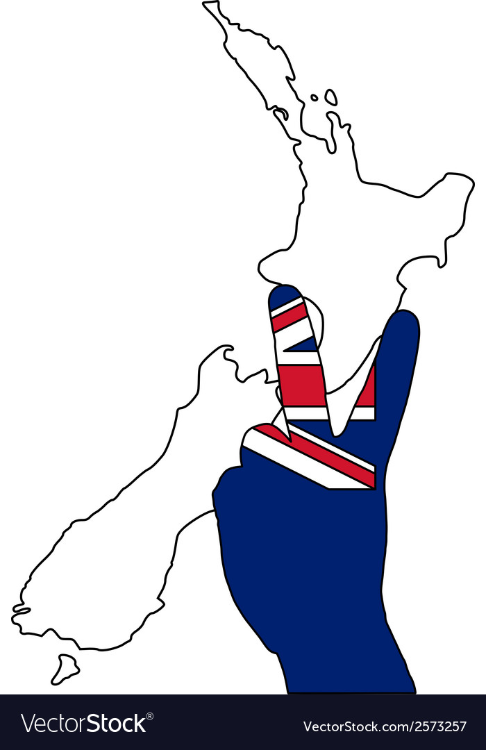 New zealand hand signal vector | Price: 1 Credit (USD $1)