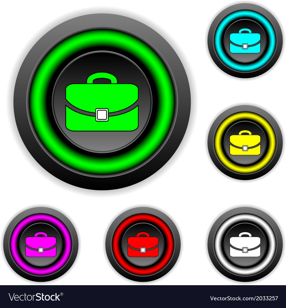 Portfolio buttons set vector | Price: 1 Credit (USD $1)