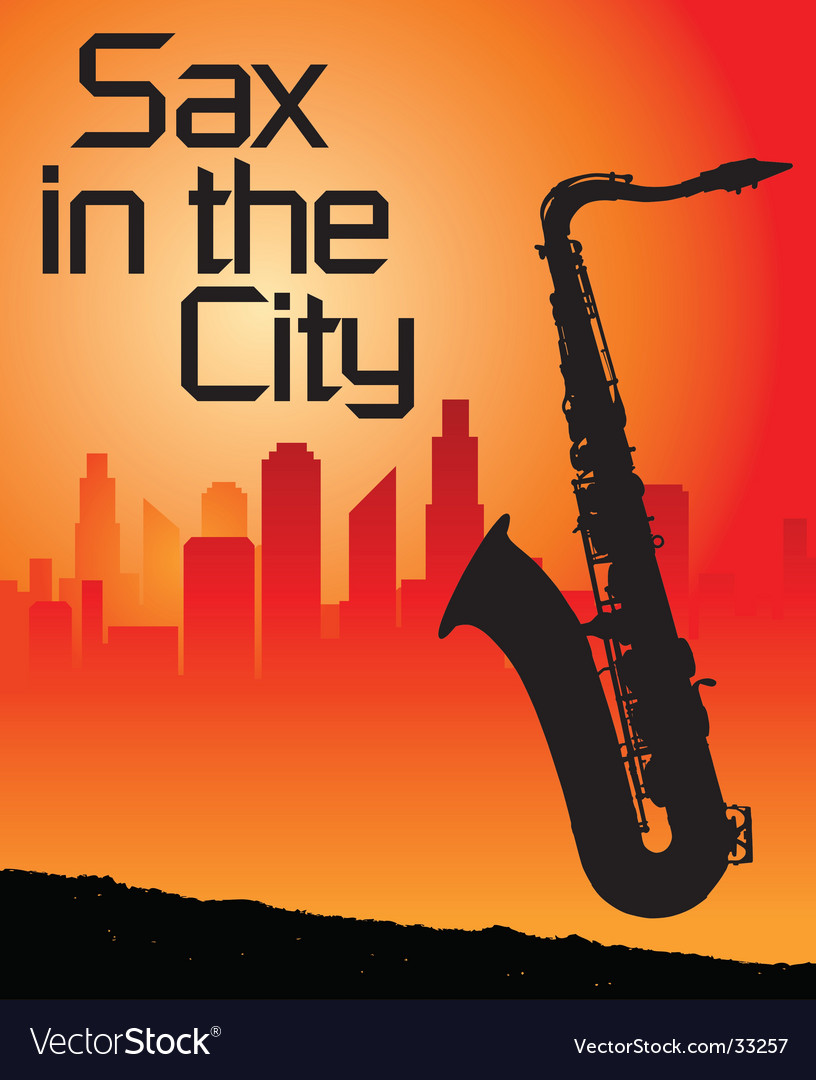 Sax city vector | Price: 1 Credit (USD $1)