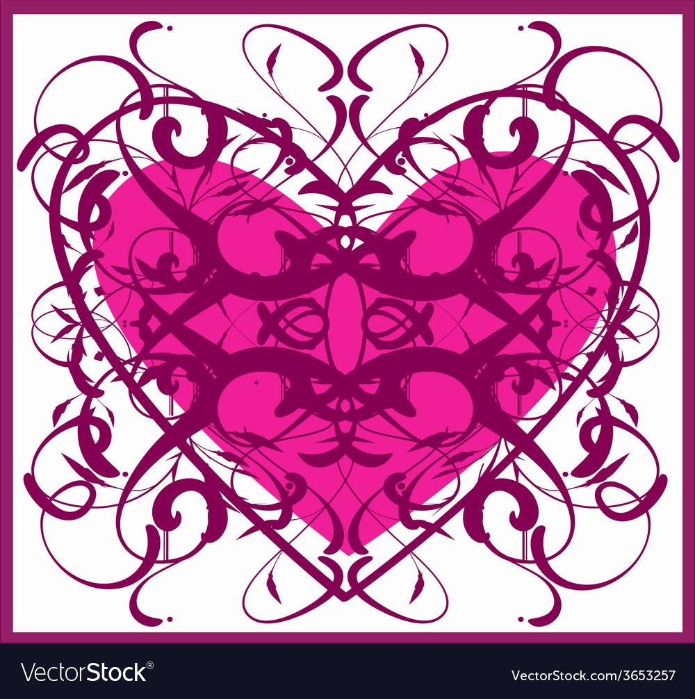 Vintage-heart vector | Price: 1 Credit (USD $1)