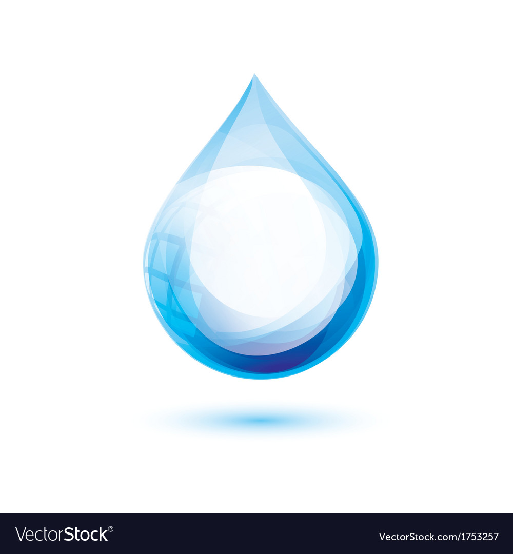 Water drop isolated symbol abstract icon vector | Price: 1 Credit (USD $1)