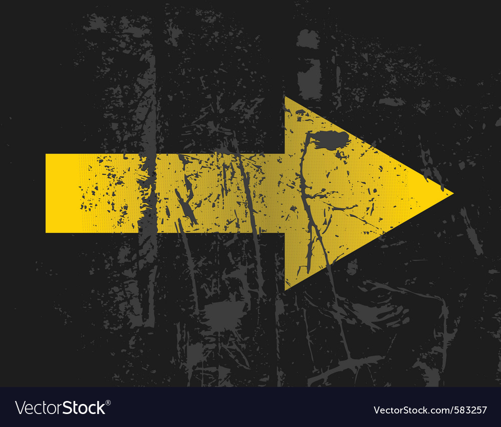 Yellow arrow vector | Price: 1 Credit (USD $1)