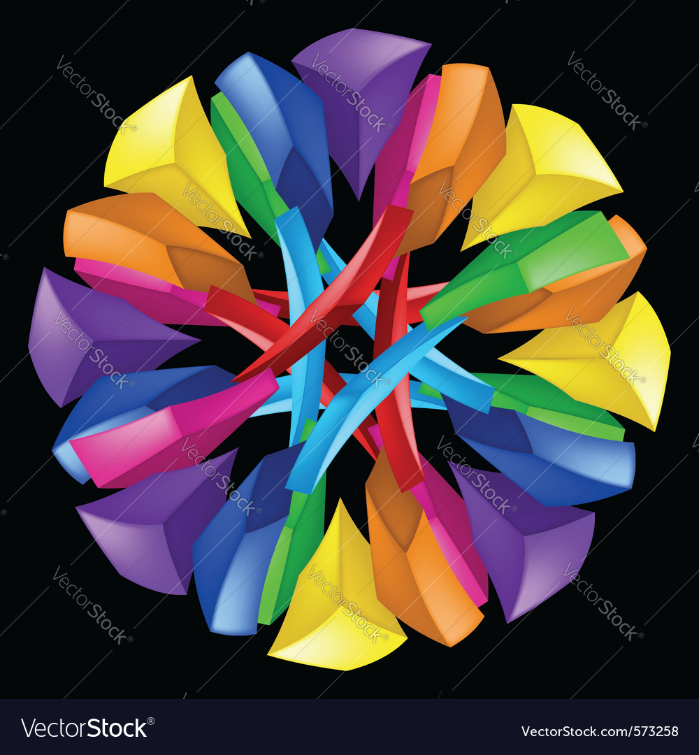 3d abstract composition on black background vector | Price: 1 Credit (USD $1)