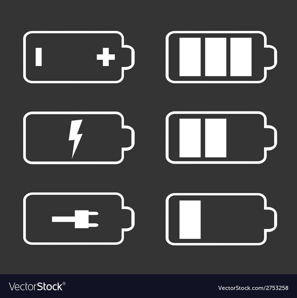 Battery flat icons vector | Price: 1 Credit (USD $1)