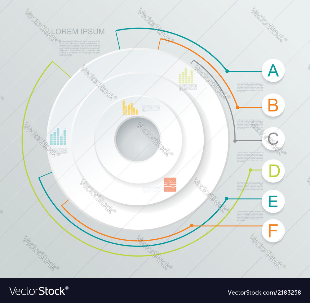 Business infographics circle style vector | Price: 1 Credit (USD $1)