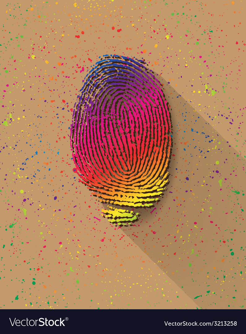 Finger print vector | Price: 1 Credit (USD $1)