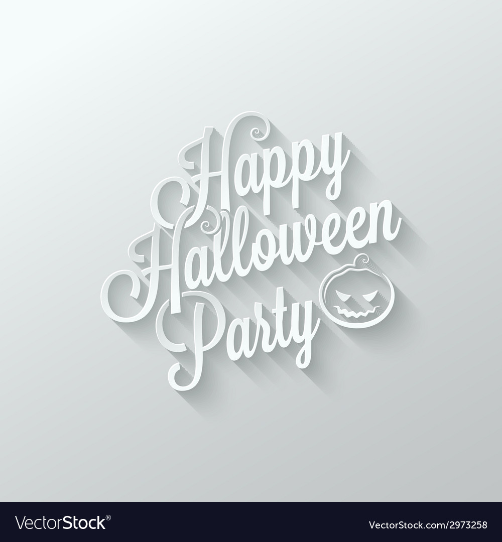 Halloween party cut paper lettering background vector | Price: 1 Credit (USD $1)