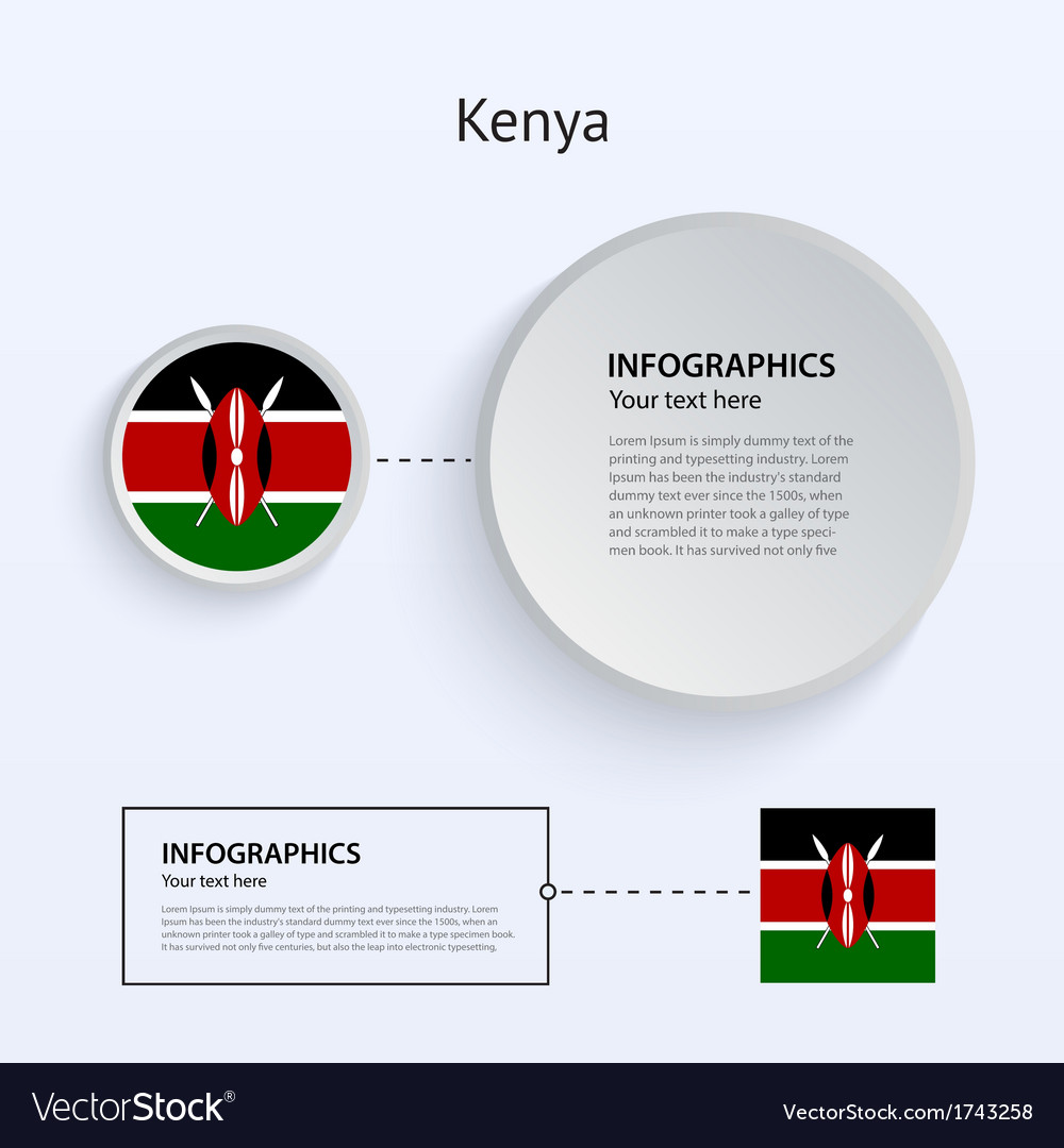 Kenya country set of banners vector | Price: 1 Credit (USD $1)