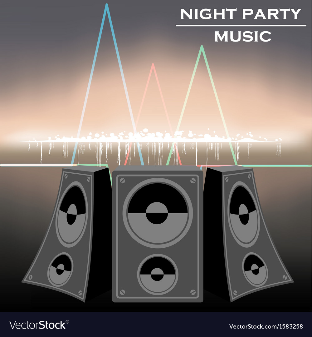 Night party music vector | Price: 1 Credit (USD $1)