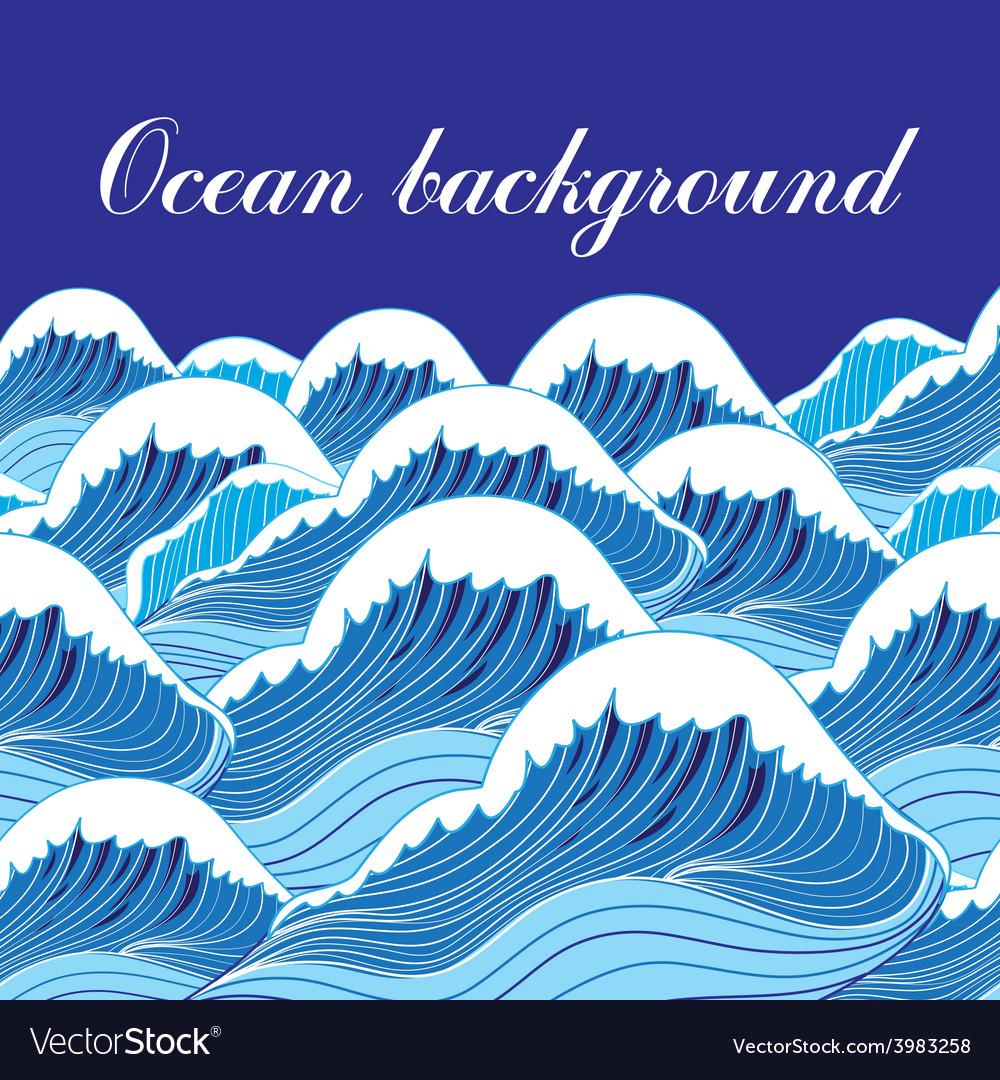 Ocean background vector | Price: 1 Credit (USD $1)