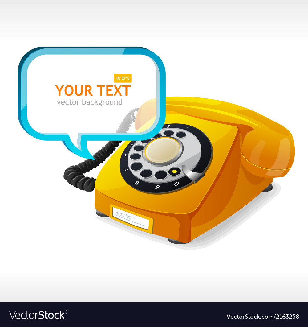Old phone as text box vector | Price: 1 Credit (USD $1)