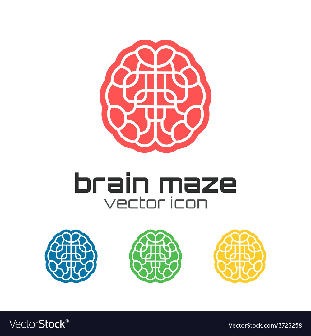 Set of brain maze icons vector | Price: 1 Credit (USD $1)