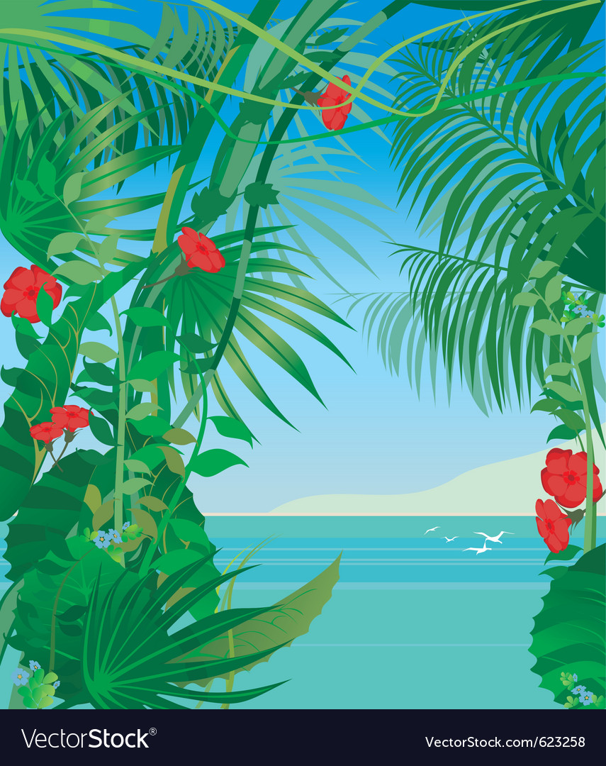 Tropic sea vector | Price: 1 Credit (USD $1)