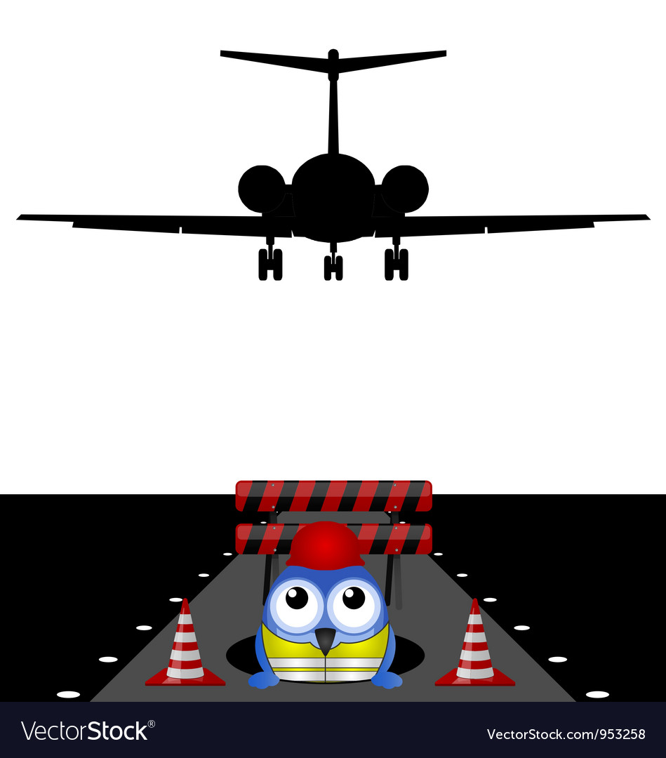 Workers runway repairs vector | Price: 1 Credit (USD $1)