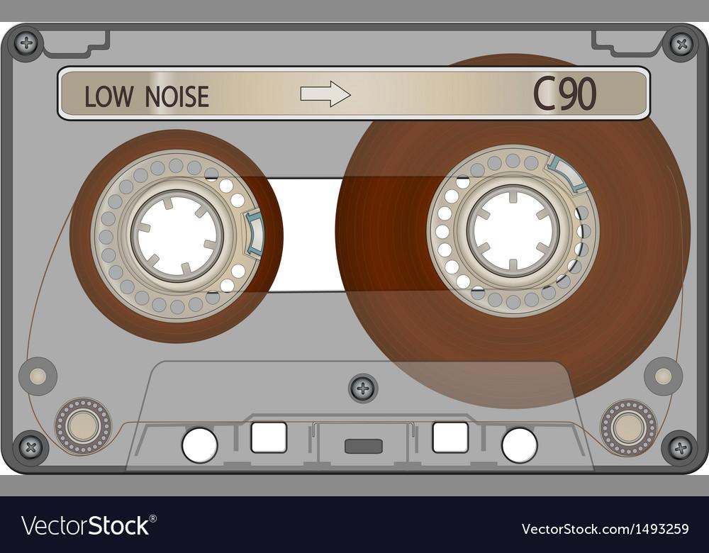 Audio cassette tape vector | Price: 1 Credit (USD $1)