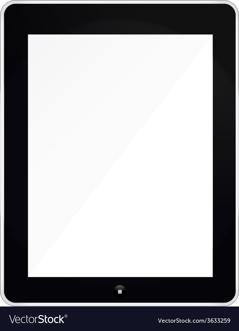 Black tablet mockup isolated on white vector | Price: 1 Credit (USD $1)