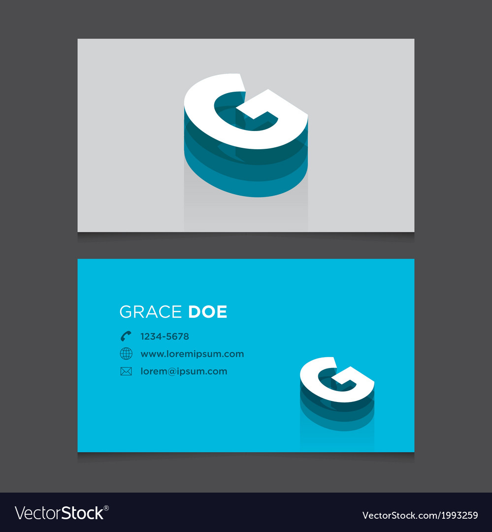 Business card letter g vector | Price: 1 Credit (USD $1)