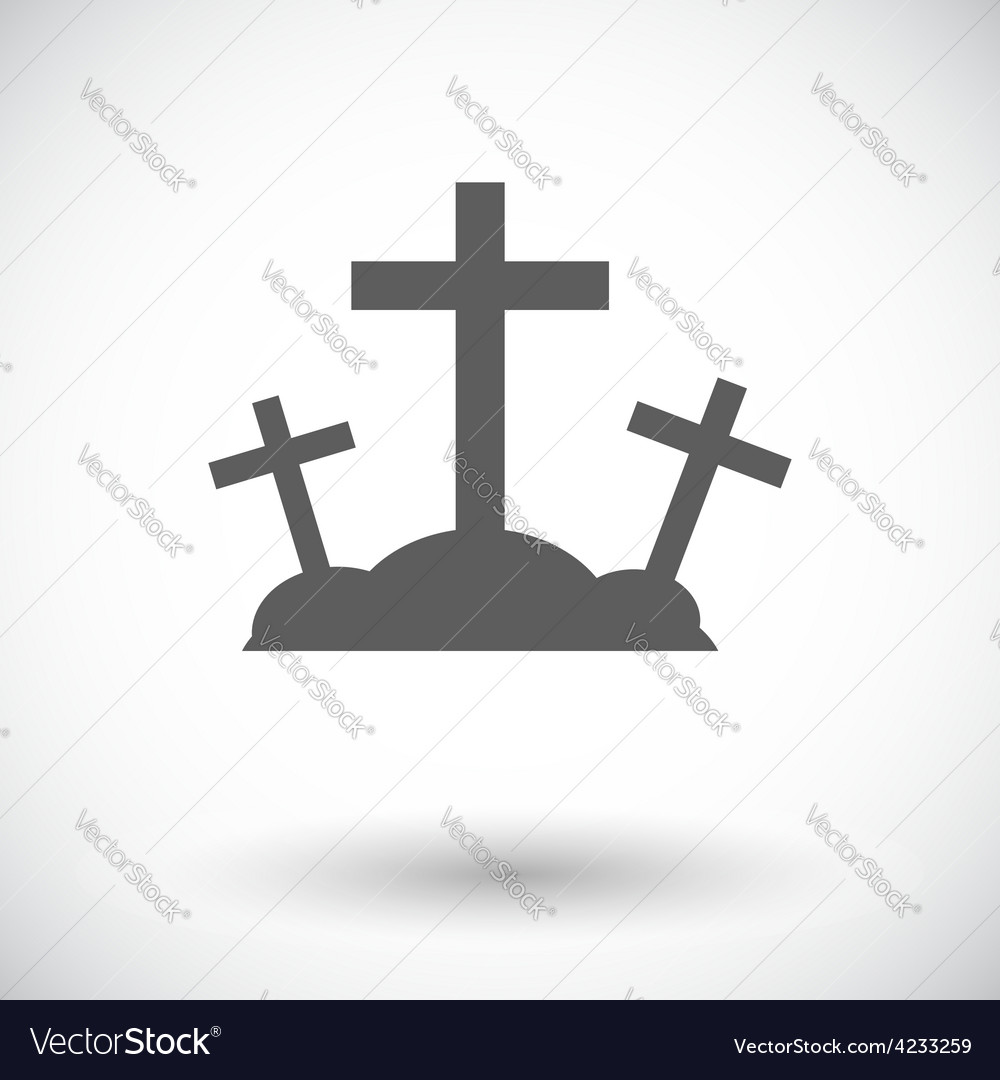 Calvary single icon vector | Price: 1 Credit (USD $1)
