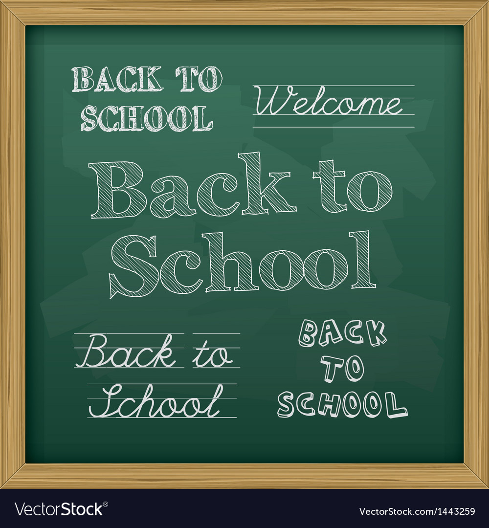 Chalkboard back to school text vector | Price: 1 Credit (USD $1)