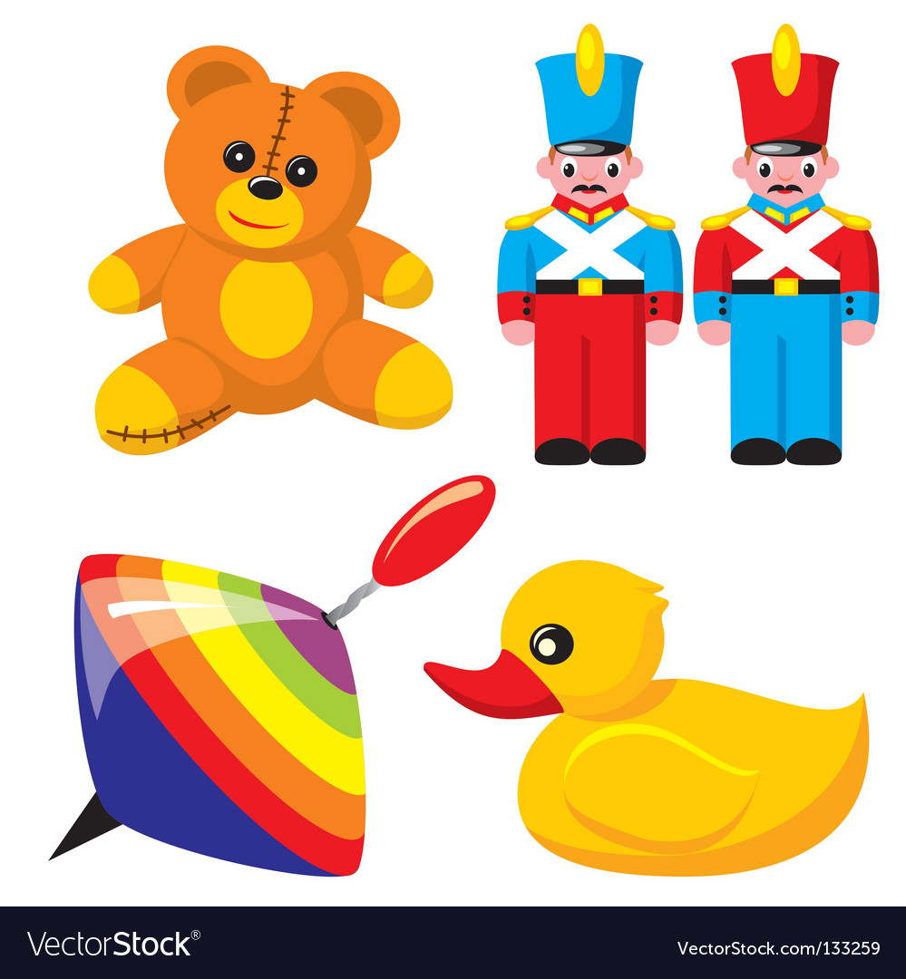 Children's toys vector | Price: 1 Credit (USD $1)