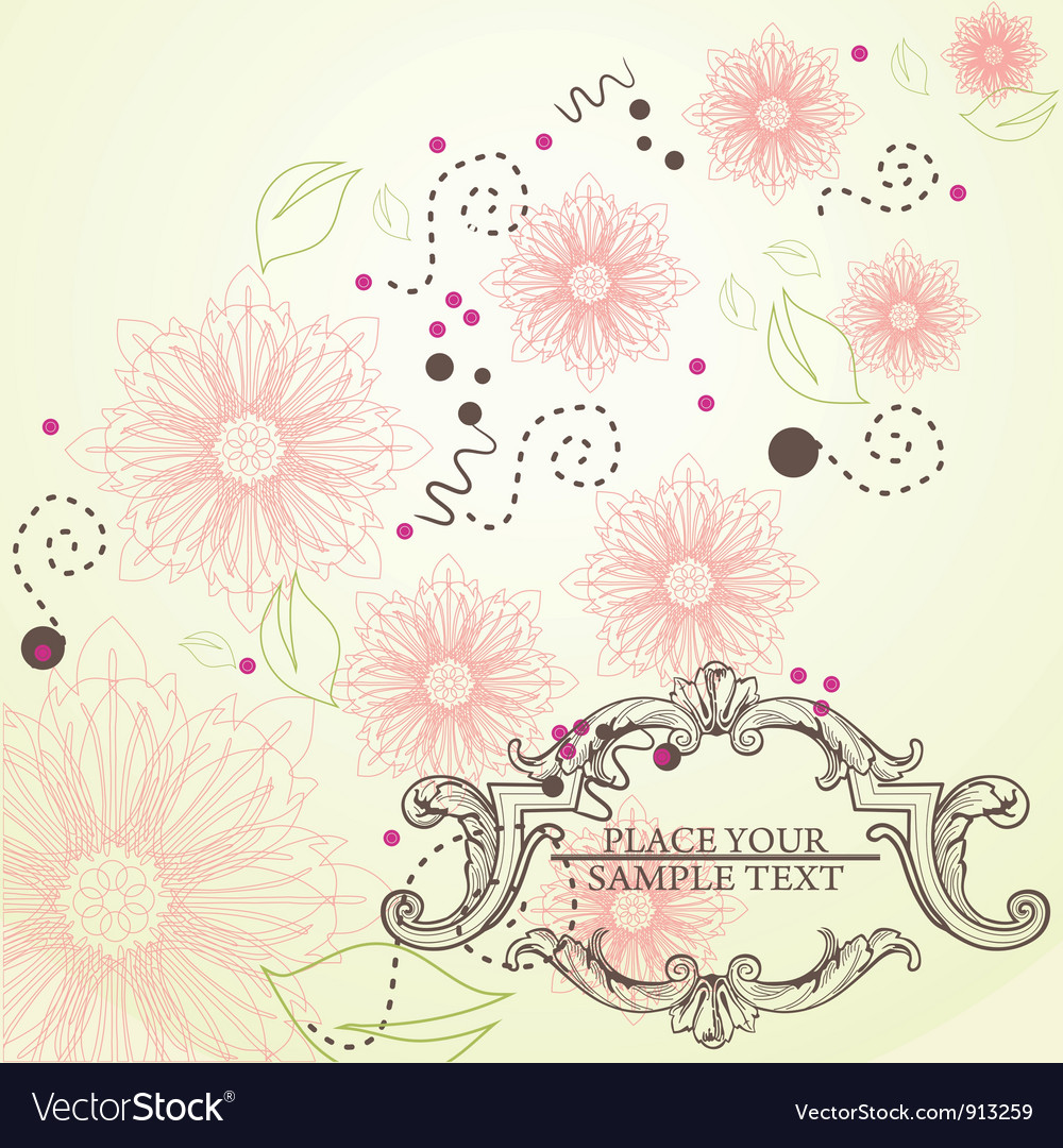 Elegance vintage frame for your text vector | Price: 1 Credit (USD $1)