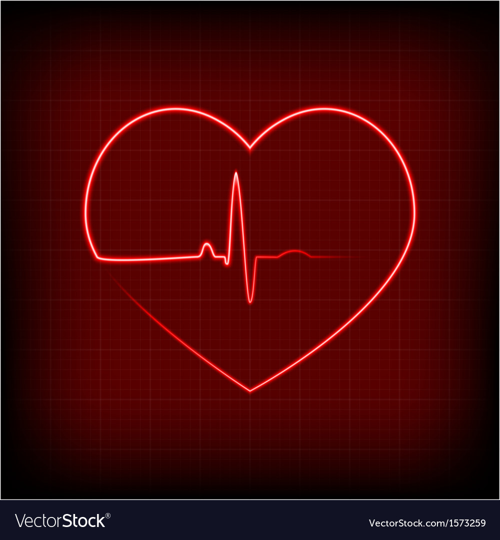 Heart on a cardiogram vector | Price: 1 Credit (USD $1)
