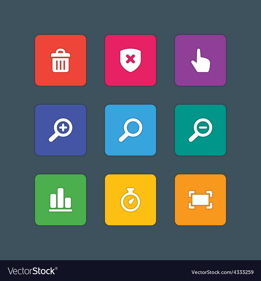 Icons in material design style sign and symbols vector | Price: 1 Credit (USD $1)