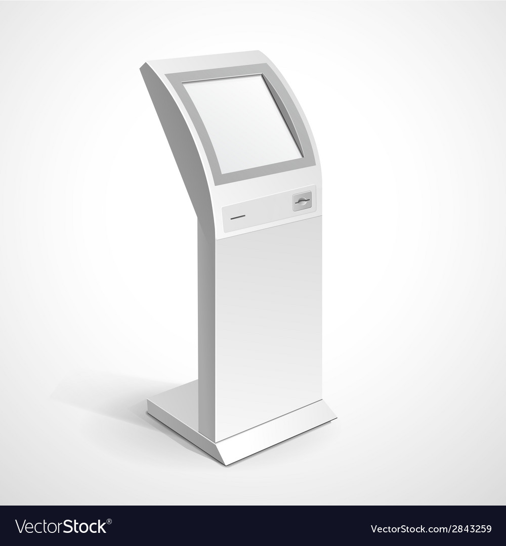 Information display monitor terminal stand vector | Price: 1 Credit (USD $1)