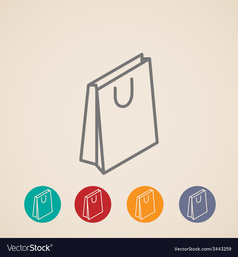 Isometric shopping bag icons vector | Price: 1 Credit (USD $1)