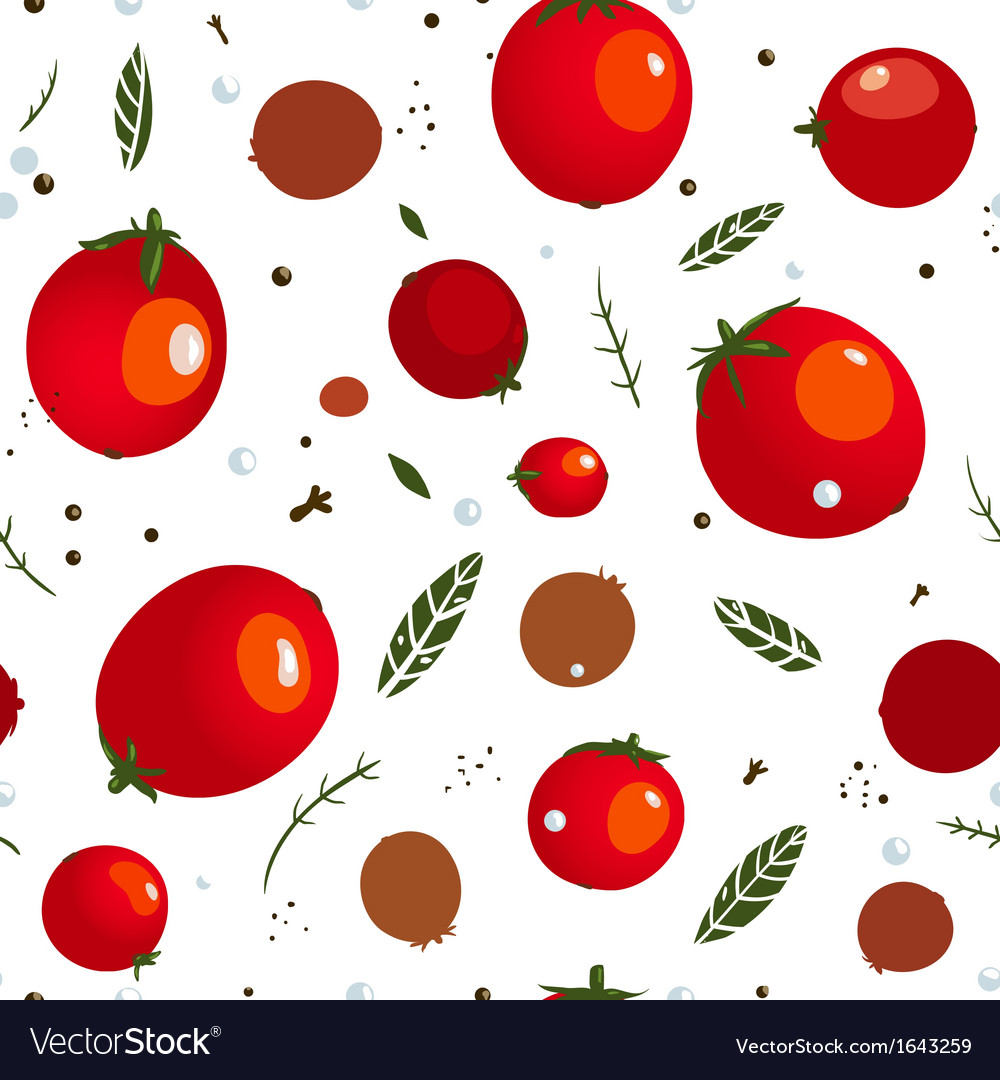 Rad canned spicy tomato seamless pattern vector | Price: 1 Credit (USD $1)